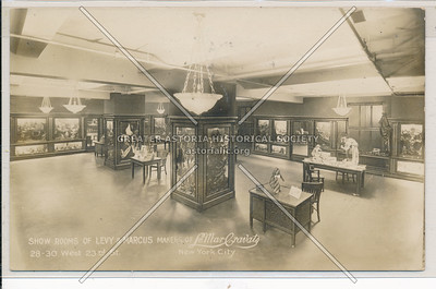 Show Room of Levy & Marcus Makers of Le Mar Cravats, 28 W 23rd St, NY