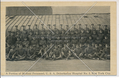 A Portion of Medical Personnel, U.S.A. Debarkation Hospital No. 3, New York City