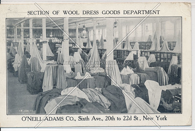 Section of Wool Dress Goods Department - O'Neill-Adams Co.,  21st St & 6th Ave, NY