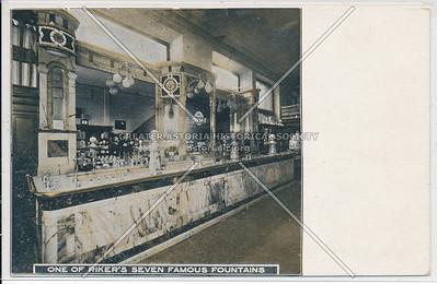One of Riker's Seven Famous Fountains, Riker Drug Store, 6th Av & 23 St, NY
