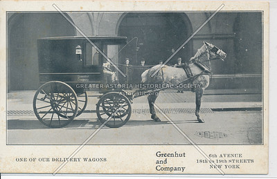 ONE OF OUR DELIVERY WAGONS - Greenhut and Co,  6th Ave & 18th St, NY