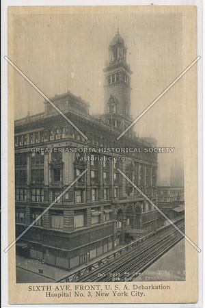 SIXTH AVE. FRONT, U.S.A. Debarkation Hospital No. 3, New York City