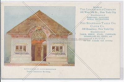 Lotus Lodge, St.Louis Expodition, Letherall Co,  142 W 23 St, NY