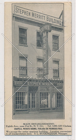 Merritt Building, 8th Ave near 21st St, Chapels, Private Rooms, Parlors on Premise