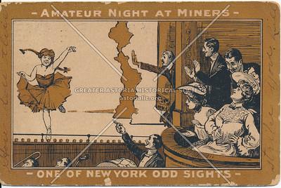 Amatuer Night at Miners, 165 Bowery, NY