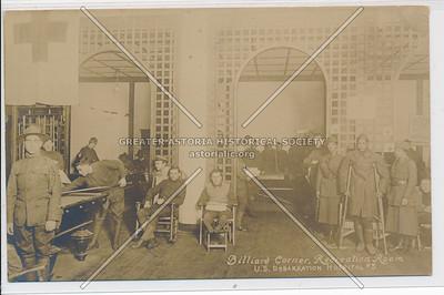Billiard Corner, Recreation Room - U.S. Debarkation Hospital #3
