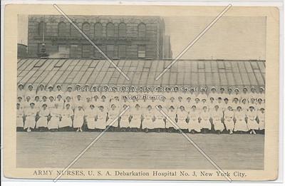 ARMY NURSES, U.S.A. Debarkation Hospital No. 3, New York City