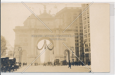 Rear of Victory Arch on Fifth Ave