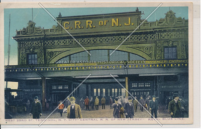 West 23rd St. Terminal - Central R.R. of New Jersey,  23 St Hudson River