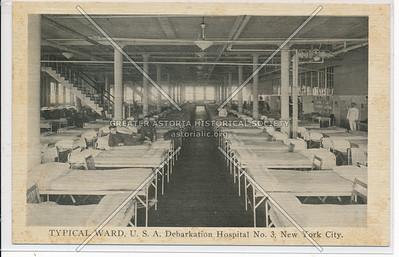 TYPICAL WARD, U.S.A. Debarkation Hospital No. 3, New York City