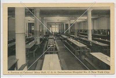 A Portion of Patients' Mess Hall, U.S.A. Debarkation Hospital No. 3, New York City