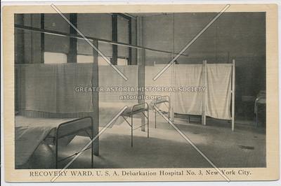 RECOVERY WARD, U.S.A. Debarkation Hospital No. 3, New York City