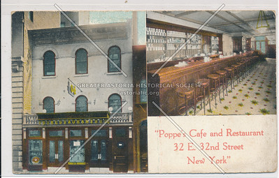 Poppe's Café and Resturant, 32 E 32 St, NYC