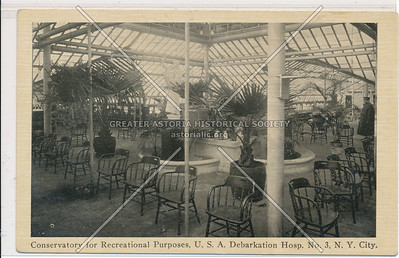 Conservatory for Recreational Purposes, U.S.A. Debarkation Hospital No. 3, N. Y. City