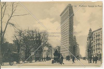Madison Square, Flatiron Bldg, Worth Monument (R)
