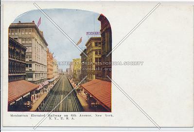 Manhattan Elevated Railway on 6th Avenue