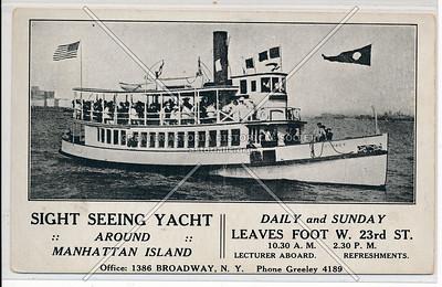 Sight Seeing Yacht Around Manhattan Island, leaves 23rd St