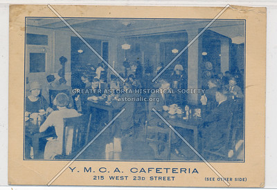 Y.M.C.A. Cafeteria , 23rd St, NYC