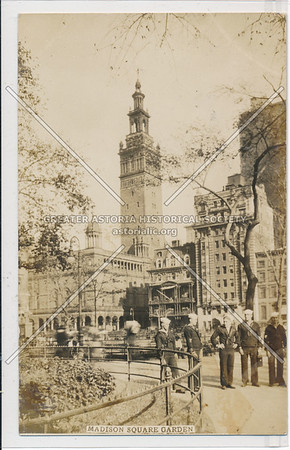 Madison Square Garden with Sailors in foreground