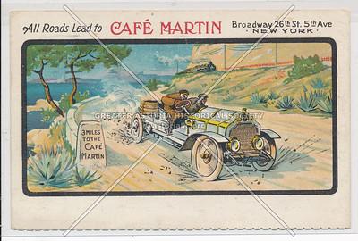 All Roads Lead to Café Martins, 26 St & 5 Av, NY