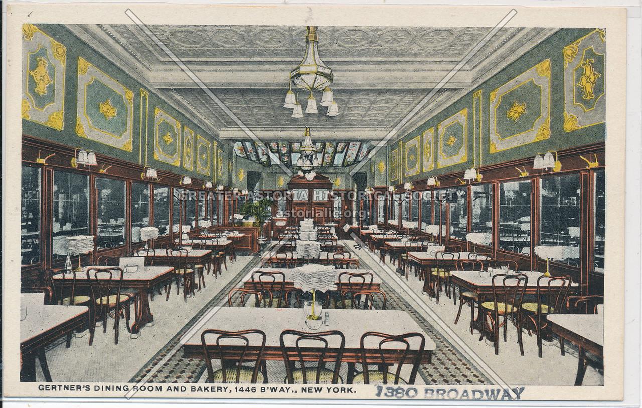 Gertner's Dining Room and Bakery, 1446 B'way, NYC