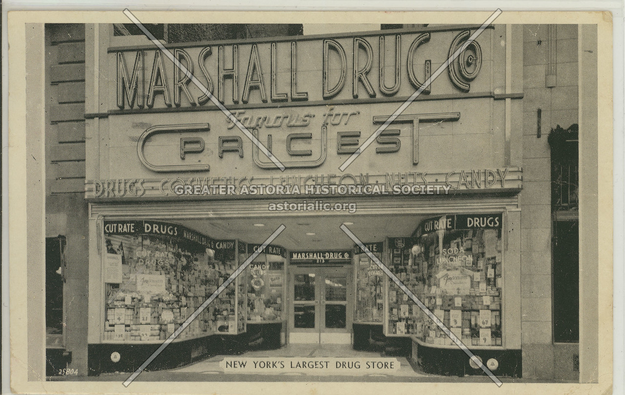Marshall Drug Store, 213 W 34th St, NYC