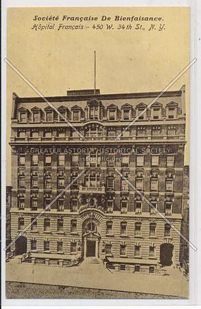 Societe Francaise De Bienfaisance, French Hospital, 450 W 34 St, NYC