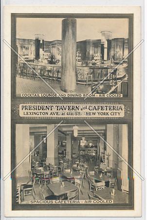 President Tavern & Cafeteria, Lexington & 41st St, NYC