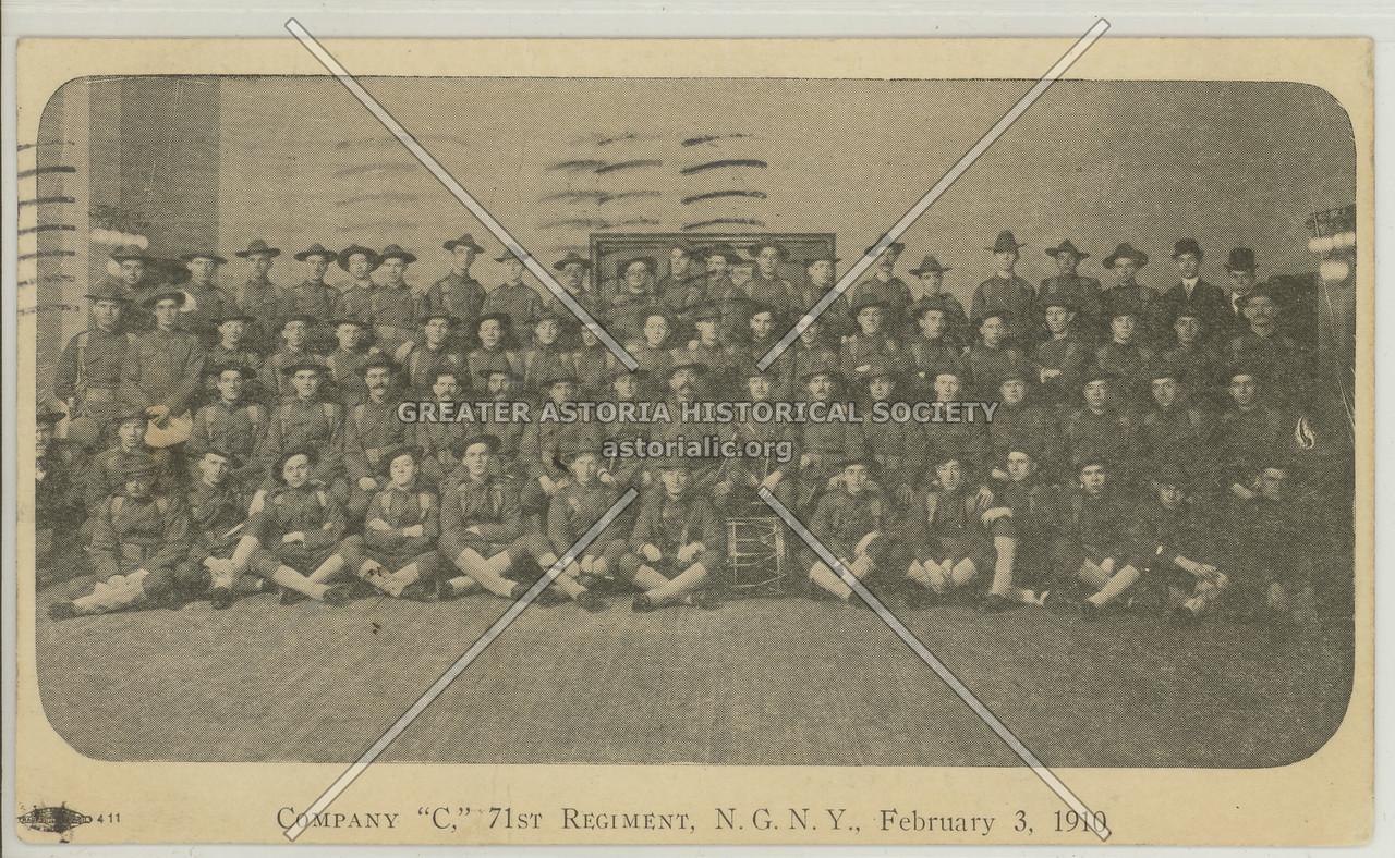 "Company ""C,"" 71st Regiment, N.G.N.Y., February 3, 1910"
