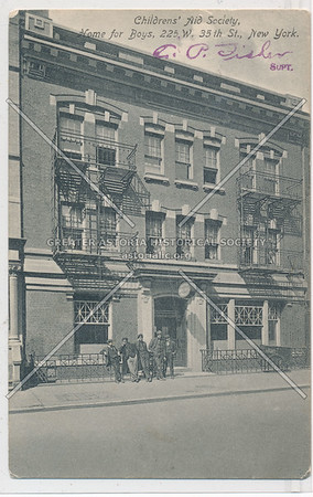 Childrens' Aid Society, Home for Boys 225 W 35 St, NYC