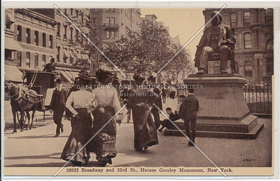 Horace Greeley Monument, B'way & 33rd St, New York
