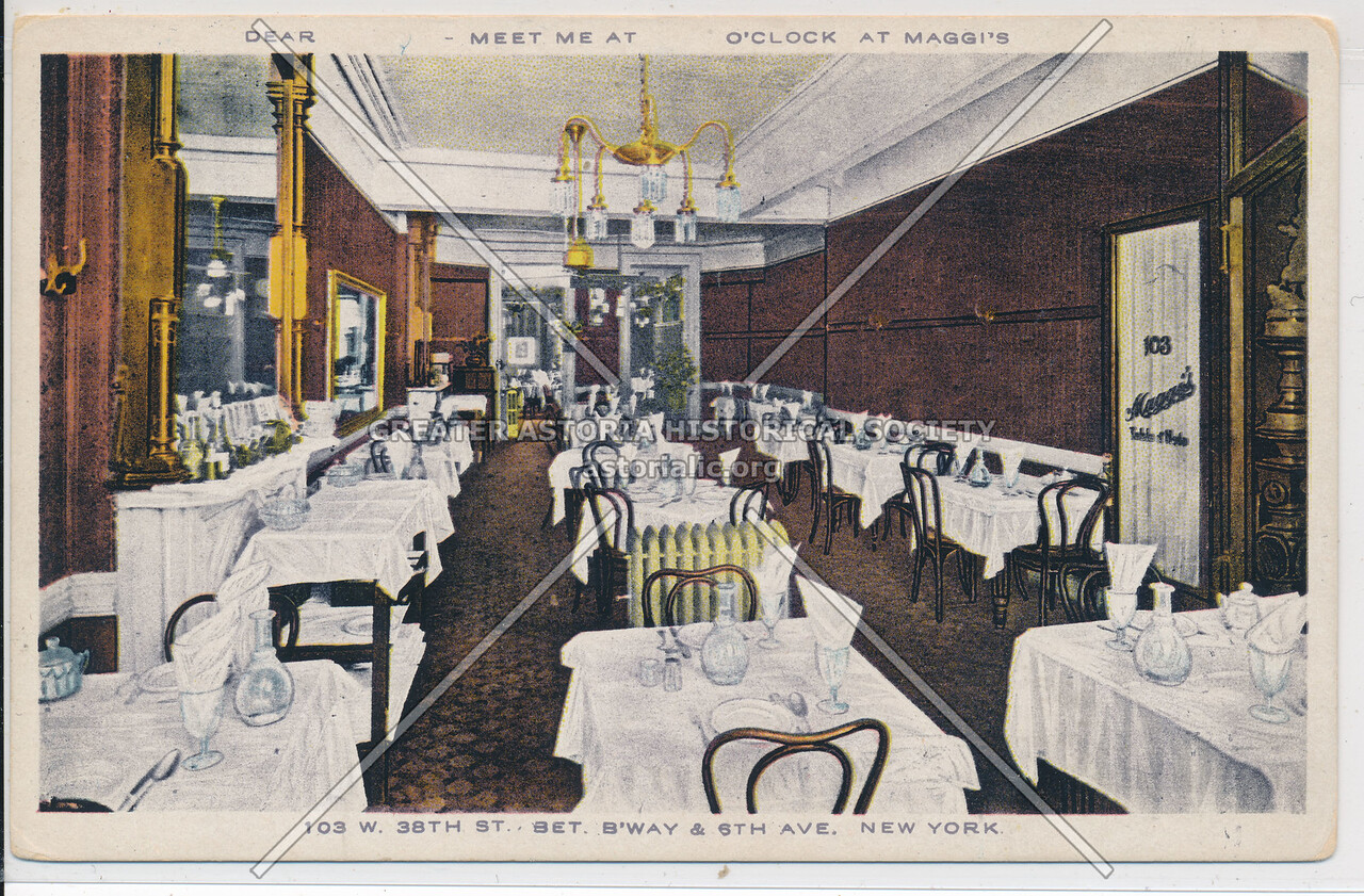 Maggi Hotel & Restaurant. 103 W 38 St, NYC