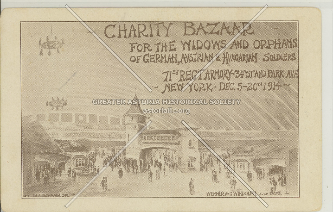Charity Bazaar, Widows & Ophans [Central powers) 71st Rgmt. Arm. (1914)