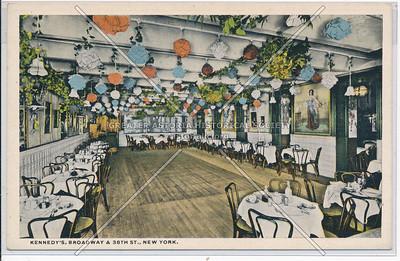 "Kennedy's Caberet, Broadway & 38th St, NYC (""Oriental Restaurant"")"