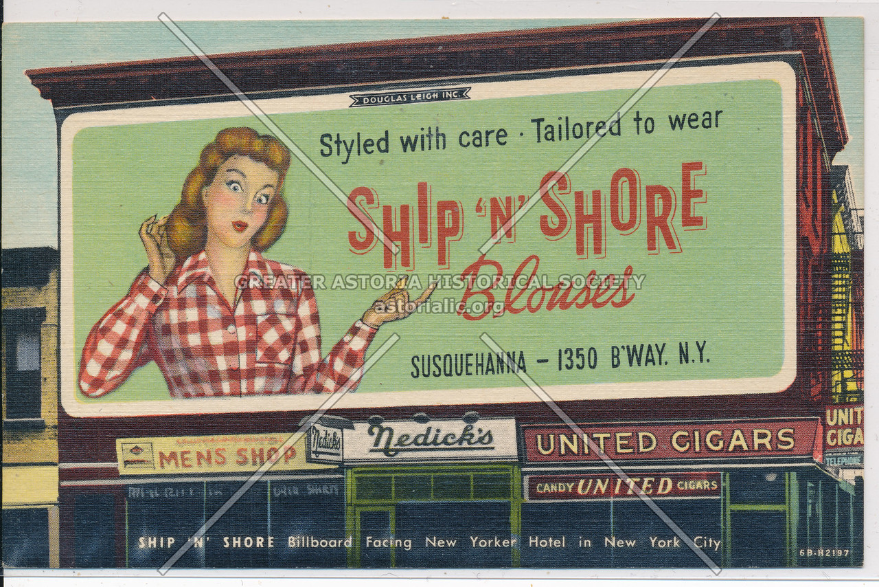 Ship n' Shore Blouse, 1350 B'way, NYC