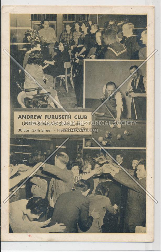 Andrew Furuseth Club, United Seaman's Service,30 E 37 St, NYC