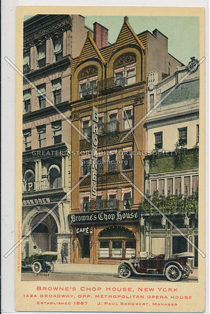 Browne's Chop House, 1424 B'way, NYC