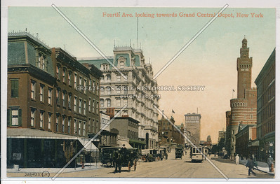 Fourth Ave (Park Ave) looking towards Grand Central Depot, NYC