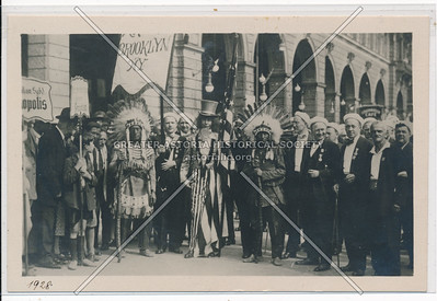 Uncle Sam and Sioux Indians, 1928