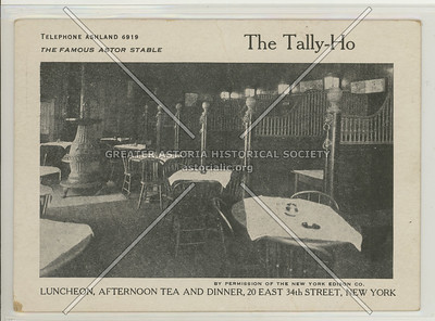 The Talley Ho, 20 E 34 St, NY