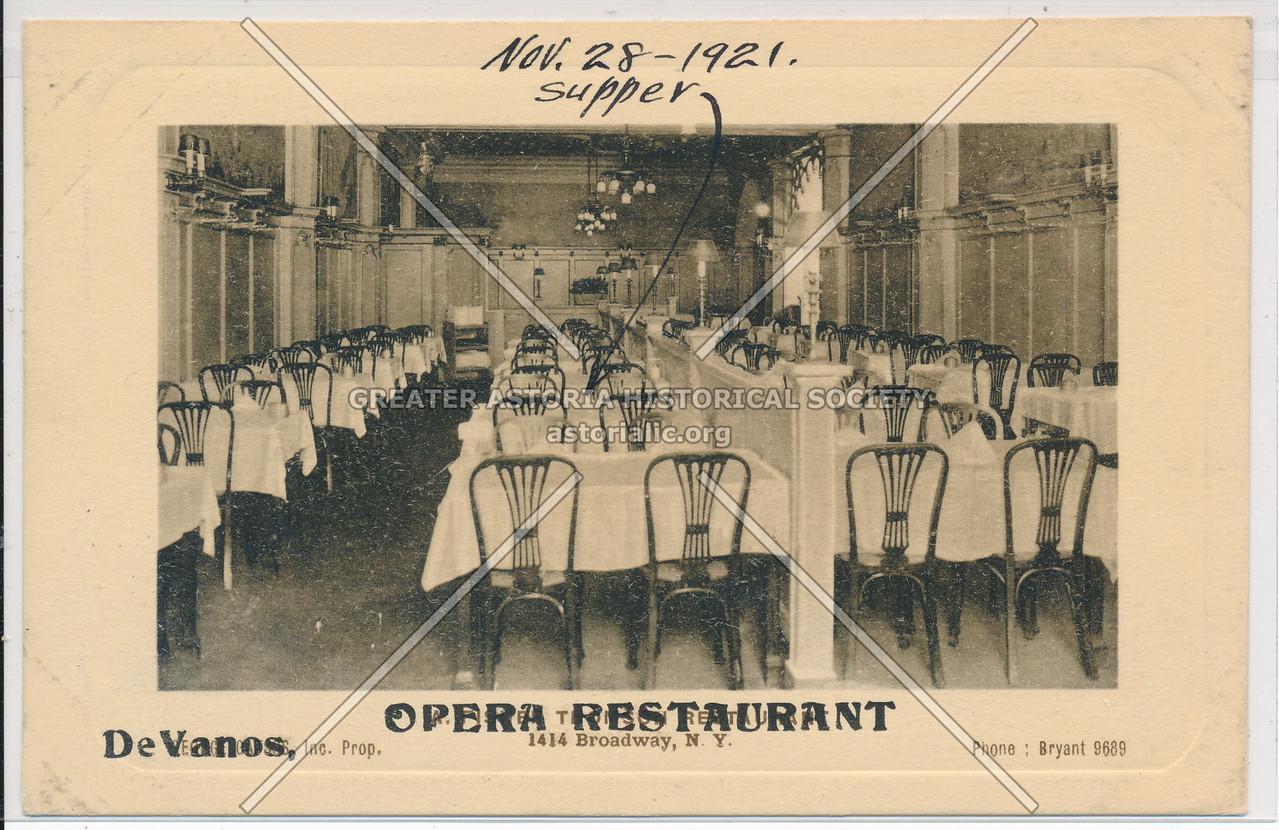 Opera Restaurant, 1414 B'way, NYC