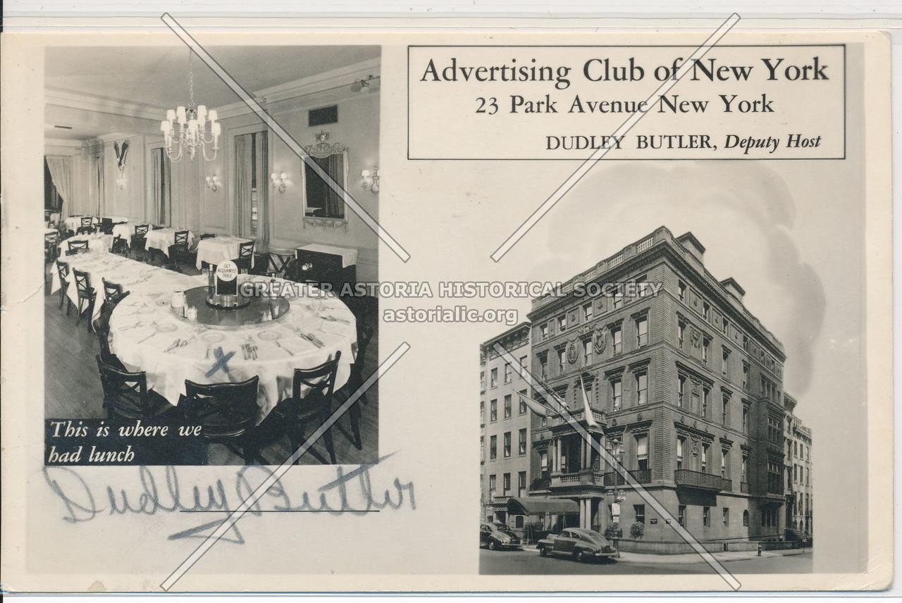 Advertising Club of NY,  23 Park Ave, NY