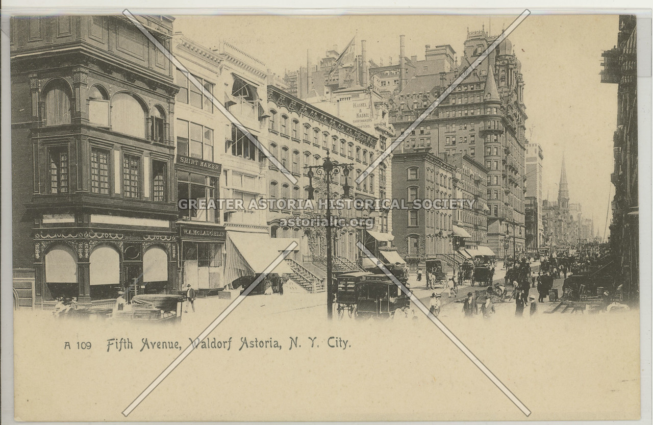 Fifth Avenue, Waldorf Astoria, N.Y. City.