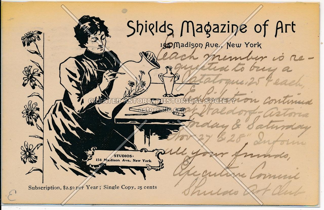 Shields Magazine of Art, 154 Mad. Ave, NYC