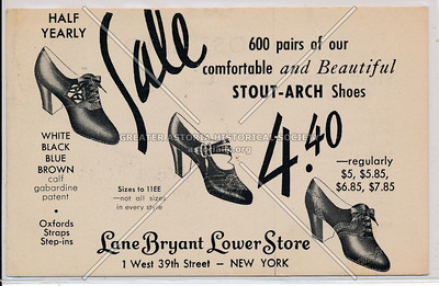Shoe Sale, Lane Bryant, 1 W 39 St, NYC, NY