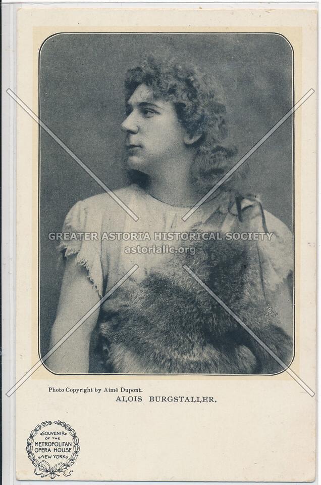 Alois Burgstaller, Opera Singer