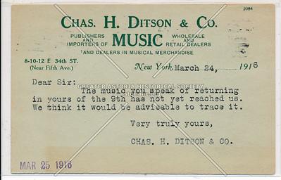 Chas. Ditson Harps, 8 E 34 St, NYC