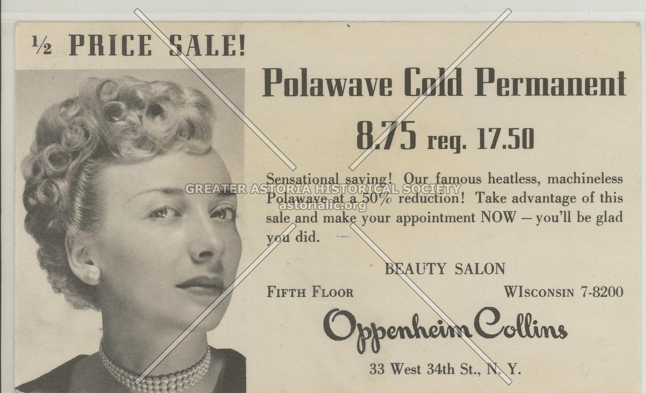 Oppenhem.Collins Beauty Parlor, 33 W 34 St, NY