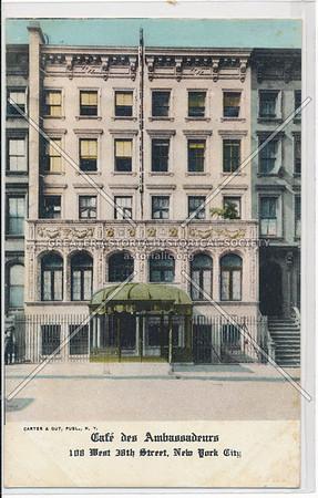 Café des Ambassadeurs, 108 W 38 St, NYC