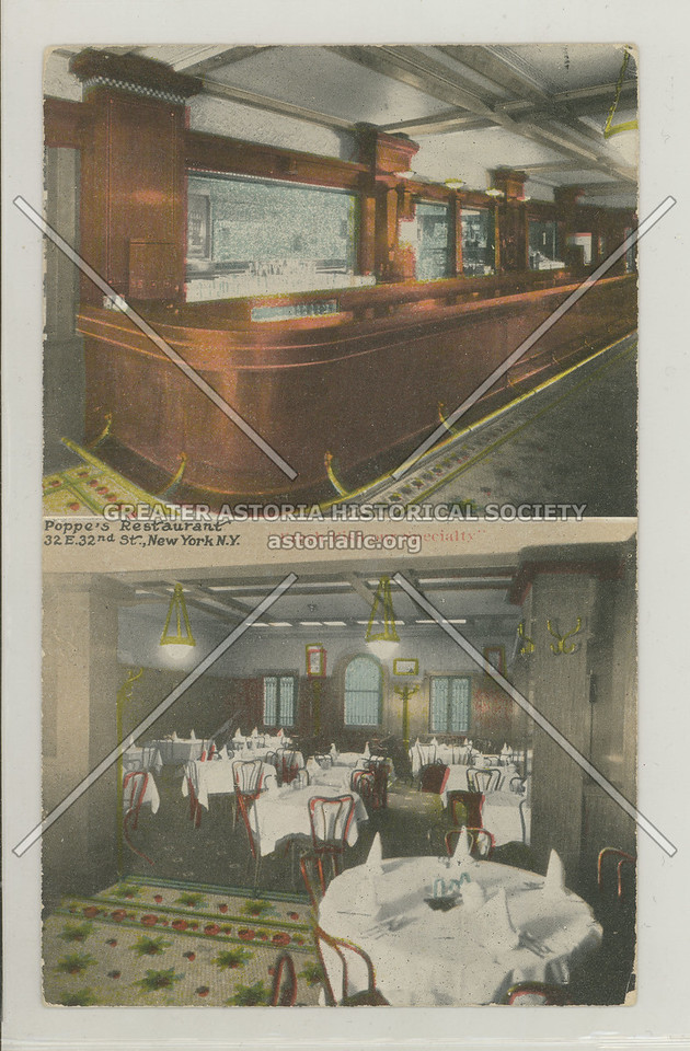 Poppe's Restaurant 32 E. 32nd St. New York